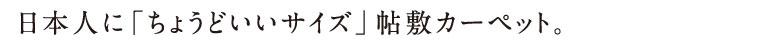 日本人に「ちょうどいいサイズ」帖敷カーペット